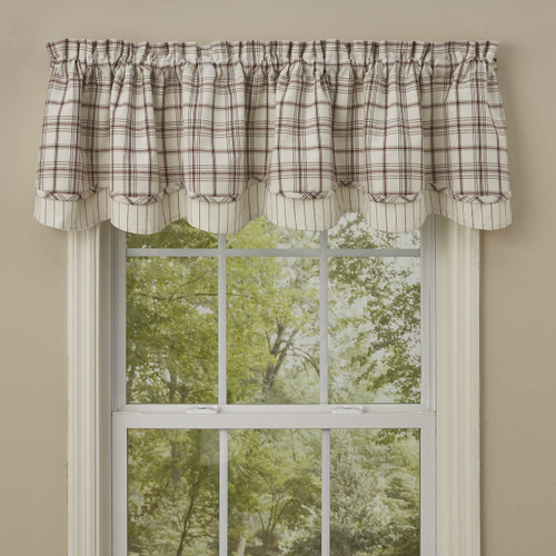 APPLE ORCHARD LINED LAYERED VALANCE 72X16