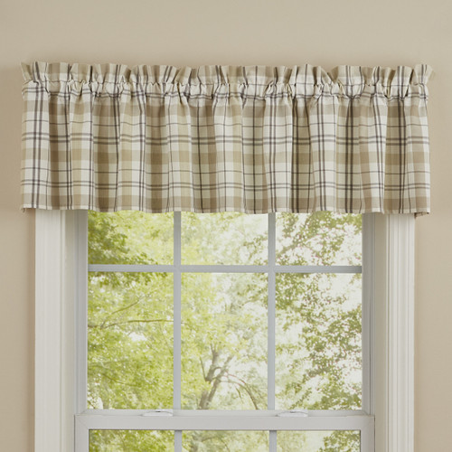 IN THE MEADOW PLAID VALANCE 72X14