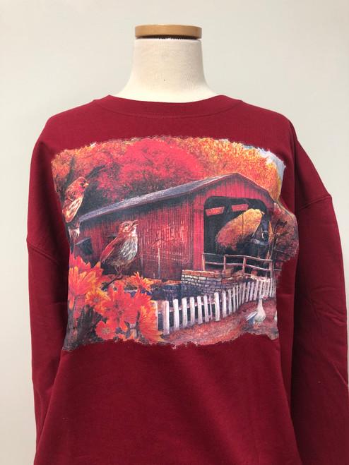 Fall Covered Bridge Sweatshirt