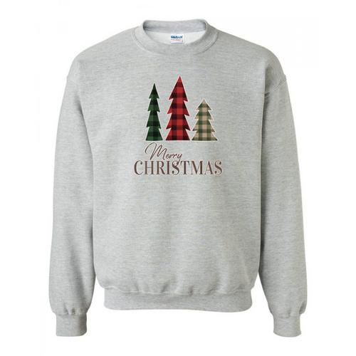 Plaid Christmas Trees Sweatshirt