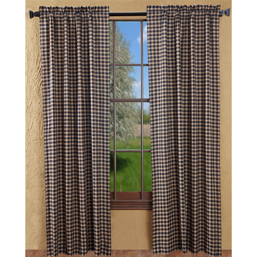 Bingham Star Panel Plaid Set of 2 84x40