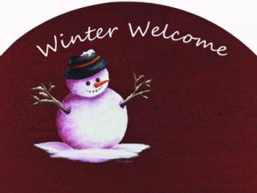 Burgundy Snowman Slider
