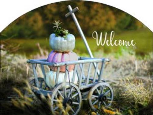 Goat Cart Autumn Welcome Slider