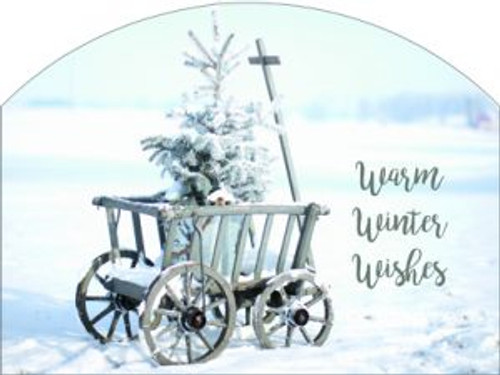 Goat Cart Warm Winter Wishes Slider