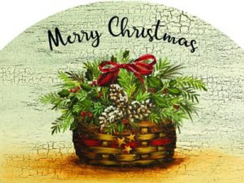 Holly Basket Merry Christmas Slider