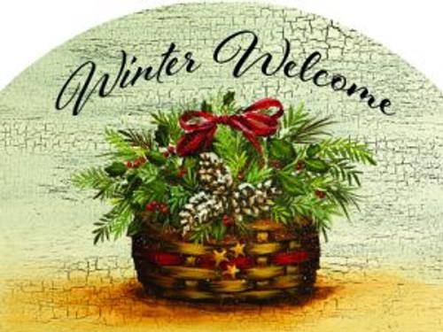 Holly Basket Winter Welcome Slider