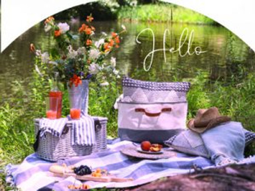Picnic Basket Gray Hello Slider