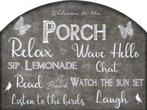 Porch Chalkboard Slider