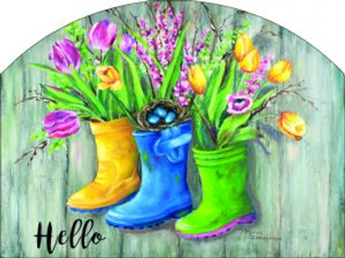 Rain Boots Hello Slider
