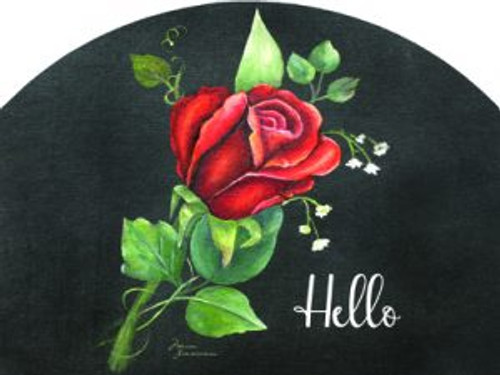 Red Rose on Black Hello Slider