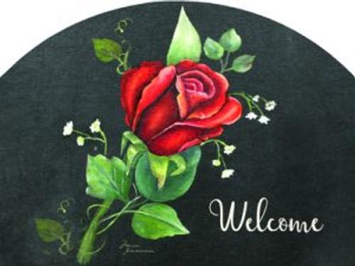 Red Rose on Black Welcome Slider