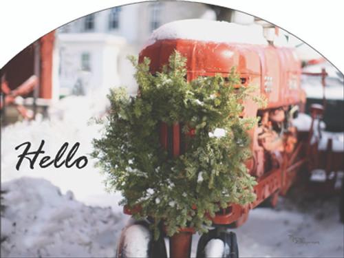 Tractor Wreath Slider