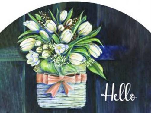 Tulips on Black Hello Slider