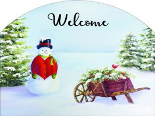 Wheelbarrow Snowman Slider