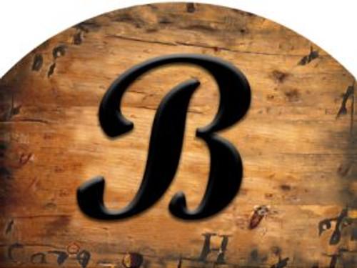 Wooden Initial - B Slider
