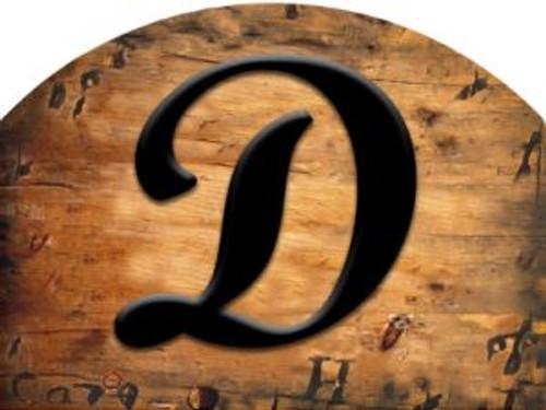 Wooden Initial - D Slider