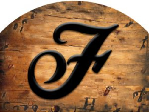 Wooden Initial - F Slider