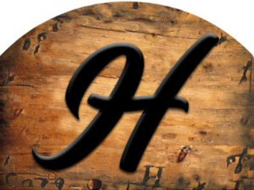 Wooden Initial - H Slider