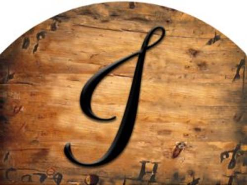 Wooden Initial - I Slider
