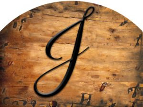 Wooden Initial - J Slider
