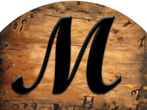 Wooden Initial - M Slider