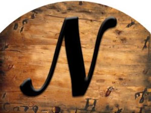 Wooden Initial - N Slider