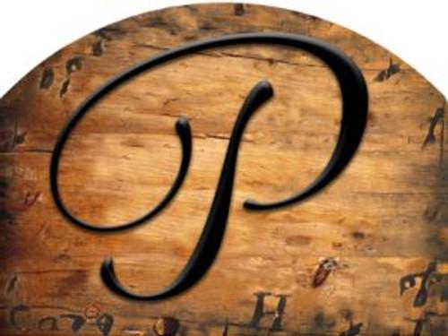 Wooden Initial - P Slider