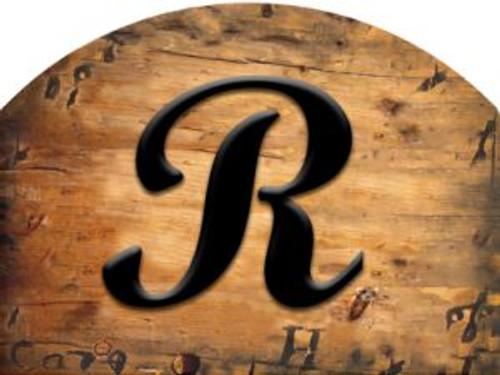 Wooden Initial - R Slider