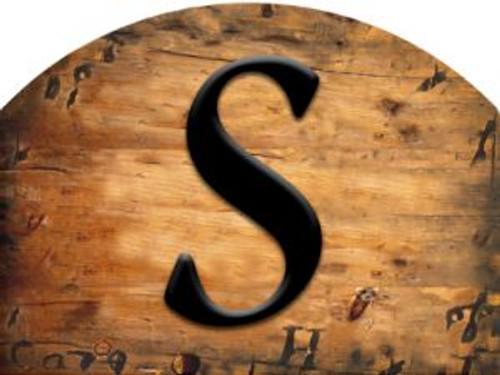 Wooden Initial - S Slider