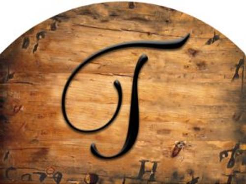 Wooden Initial - T Slider