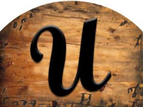 Wooden Initial - U Slider