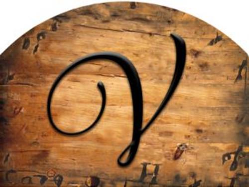 Wooden Initial - V Slider