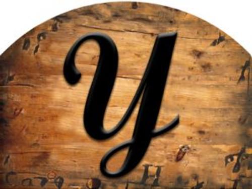 Wooden Initial - Y Slider