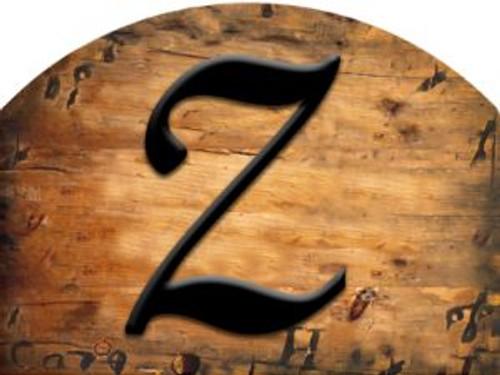 Wooden Initial - Z Slider