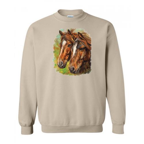 Horse Couple Sweatshirt
