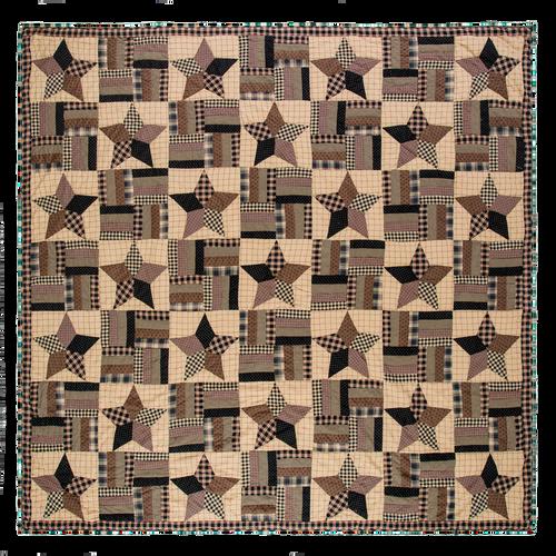 Bingham Star Twin Quilt 90x70