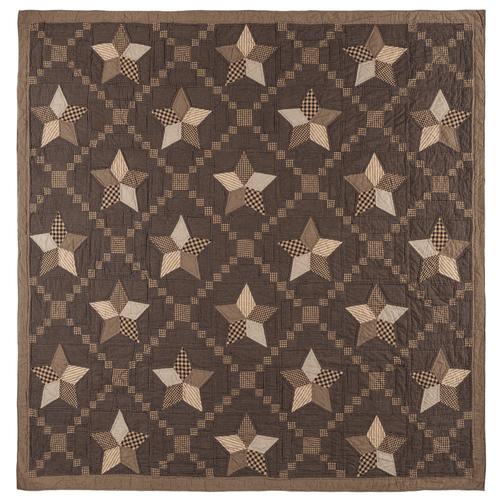 Farmhouse Star Luxury King Quilt 105x120