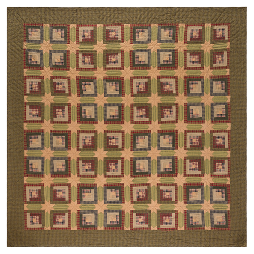Tea Cabin Luxury King Quilt 105x120