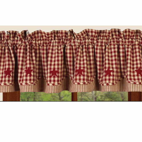 """Heritage House Check w/ Barn Red 72"""" x 15.5"""" Barn Red - Nutmeg"""