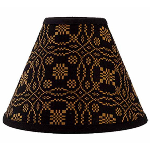 "Lover's Knot Jacquard 14"" Washer Black - Mustard"