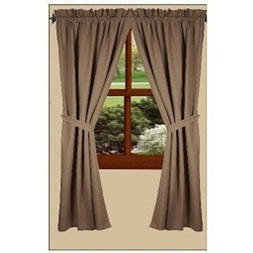 "Bradford 72"" x 63"" (2 pcs)(pair of fabric tiebacks included) Oat"