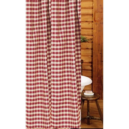 """Heritage House Check 72"""" x 72"""" Barn Red - Nutmeg"""