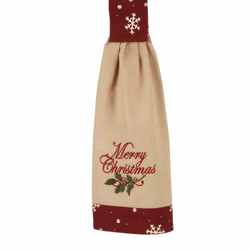 "Merry Christmas 16.5"" x 18.5"" Nutmeg - Barn Red"