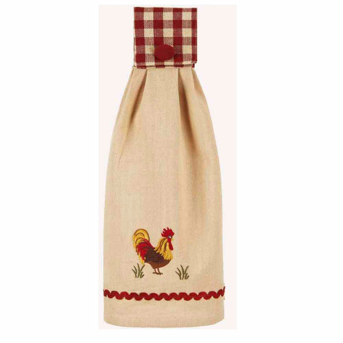 """Rooster 16.5"""" x 18.5"""" Barn Red - Nutmeg"""