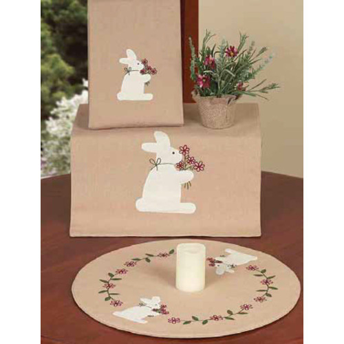 "Bunny Bouquet 14"" x 36"" Nutmeg"
