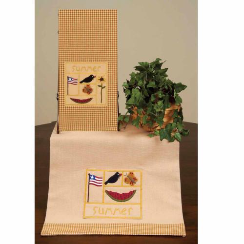 """Summer Sampler 14"""" x 36"""" Mustard - Nutmeg"""