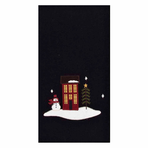 "Evergreen Christmas 18"" x 28"" Black"