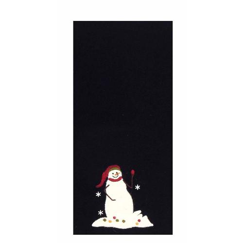"Snowmen with Tree 18"" x 28"" Black"