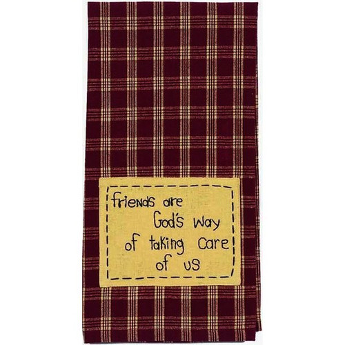 "Friends are God's Way 18"" x 28"" Barn Red - Nutmeg"