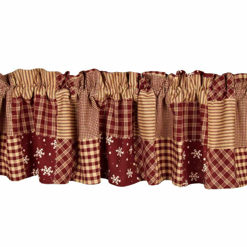 "Patchwork Christmas 72"" x 15.5"" Barn Red"